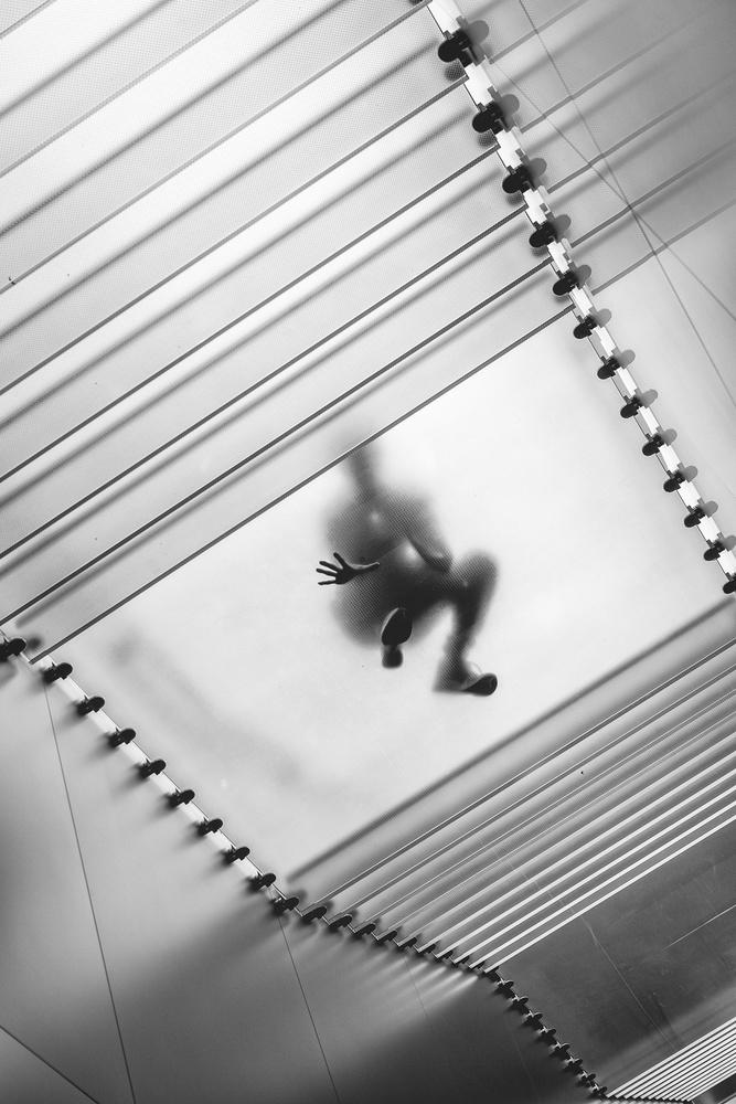 A piece of fine art art photography titled Spider Man Hidden In the City by fenderlei