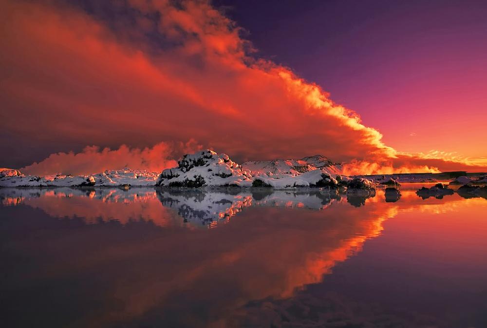 A piece of fine art art photography titled Ice & Fire by Þorsteinn H. Ingibergsson