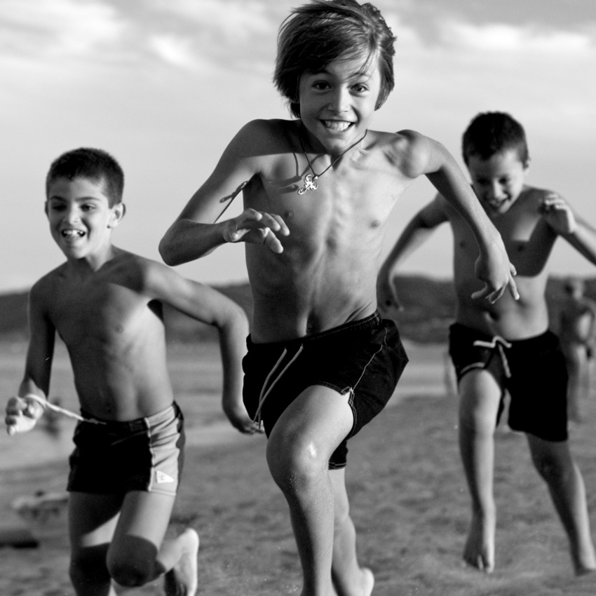 A piece of fine art art photography titled The Joy of Running by Paolo Giudici