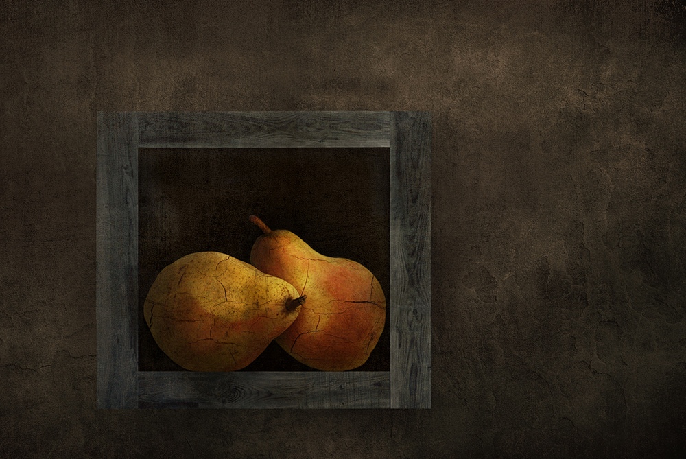 A piece of fine art art photography titled Pears Still Life by Natalia