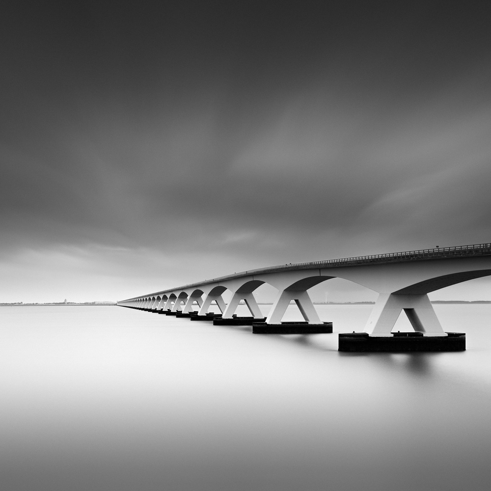 A piece of fine art art photography titled Zeelandbrug by Andre Struik
