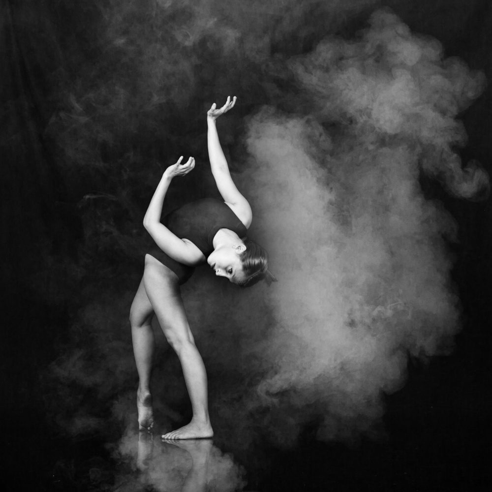 A piece of fine art art photography titled She Dance Alone by Eduardo Bodner