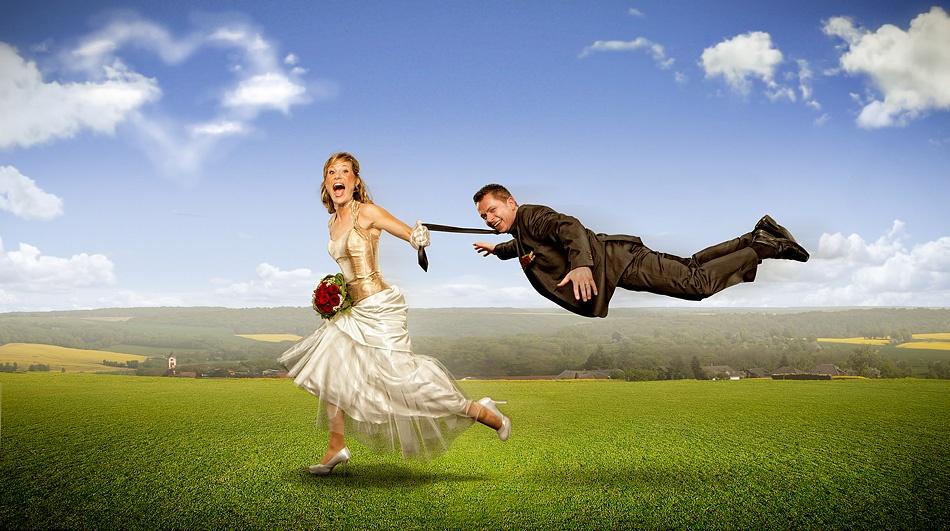 A piece of fine art art photography titled Shotgun-Wedding by Ralf Mack
