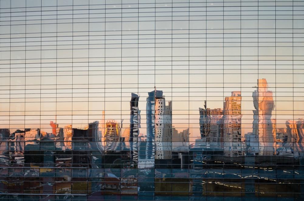 City through the mirror