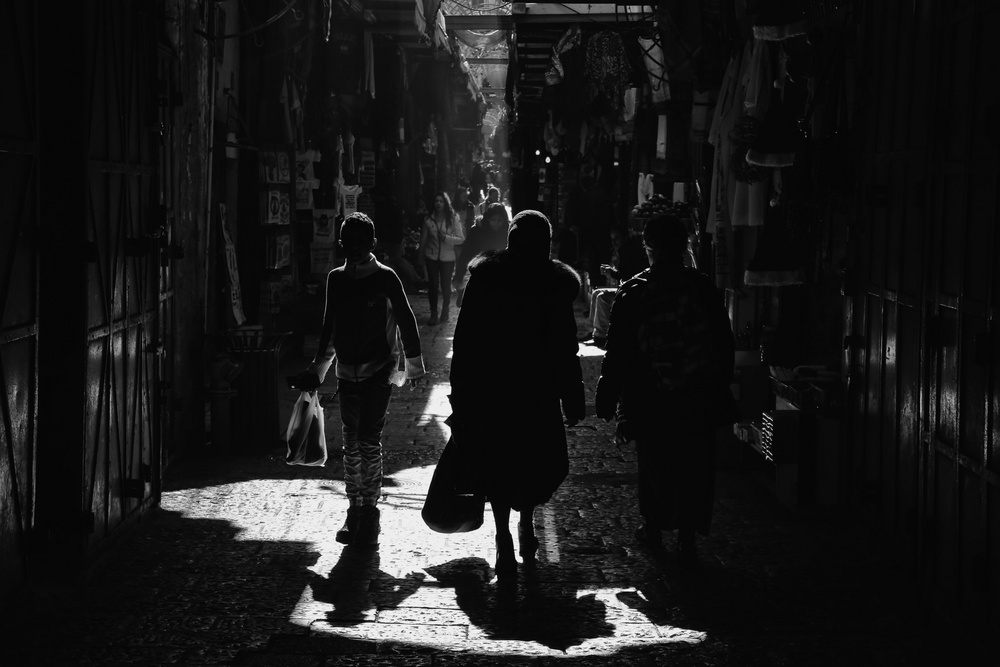 A piece of fine art art photography titled Light and Darkness by Fadwa Rouhana