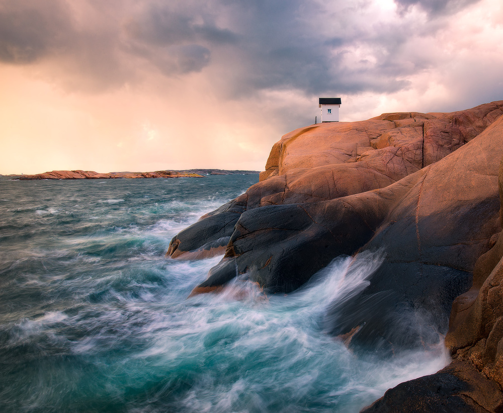 A piece of fine art art photography titled The Little House by Christian Lindsten