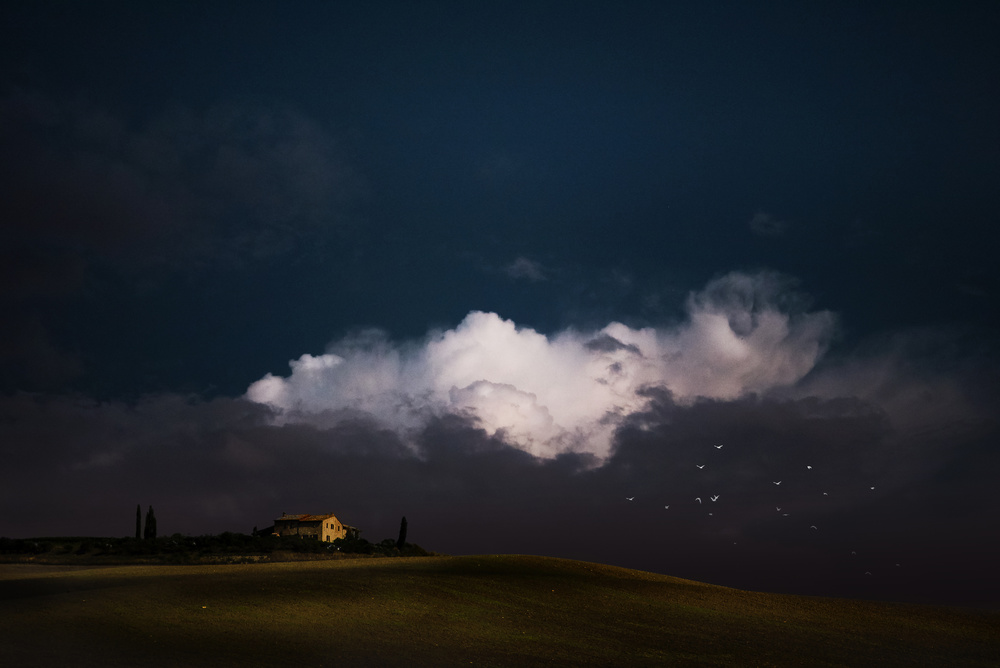 A piece of fine art art photography titled Farmhouse  In Val D'Orcia by Nicodemo Quaglia