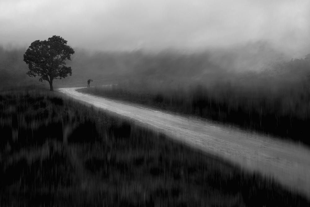 A piece of fine art art photography titled Old Way by Ekkachai Khemkum
