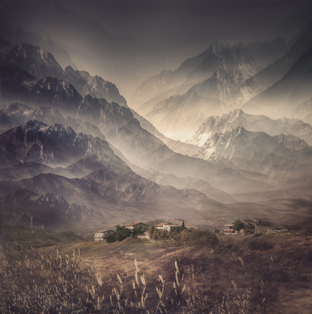 A piece of fine art art photography titled Colline D'Abruzzo - Italy by Carla DLM