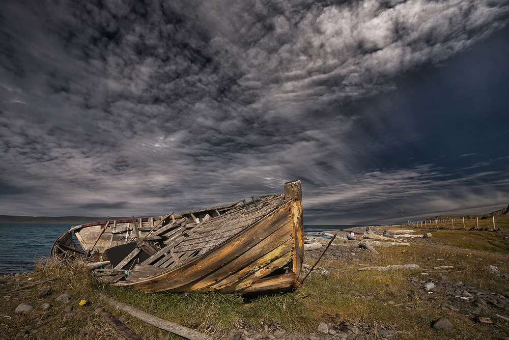 A piece of fine art art photography titled Woody Beach by Þorsteinn H. Ingibergsson