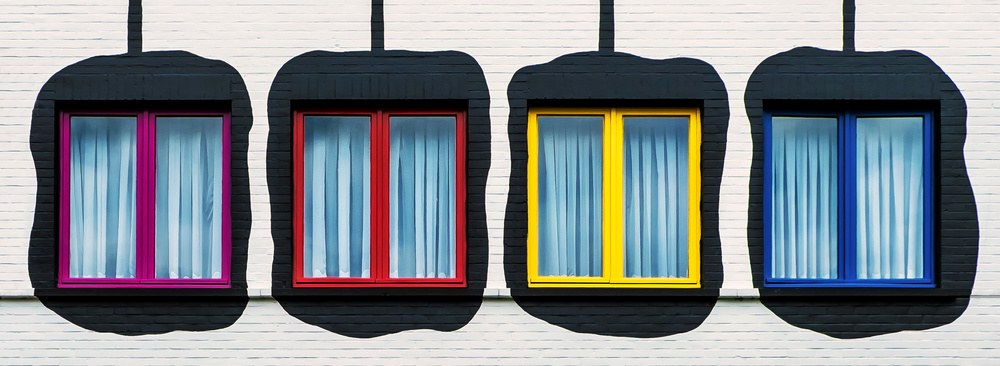 A piece of fine art art photography titled Coloured Frames by Lus Joosten