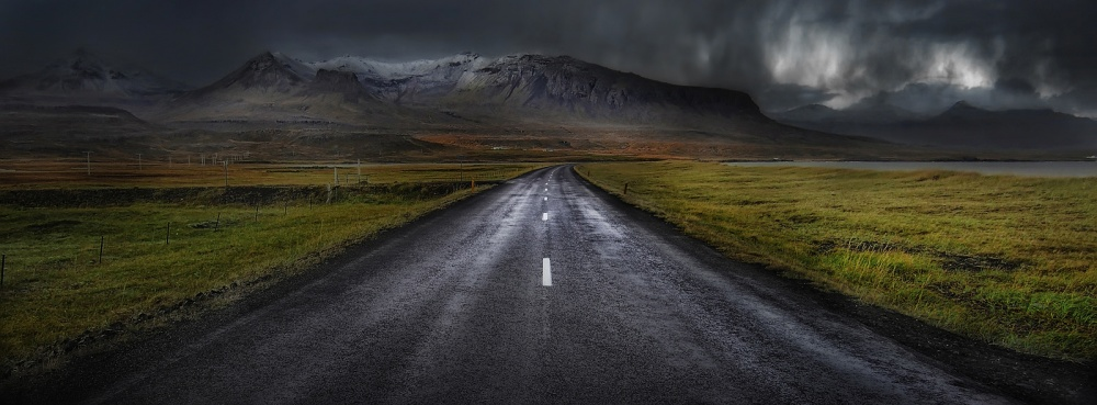 A piece of fine art art photography titled Road to Infinity by Amador Funes