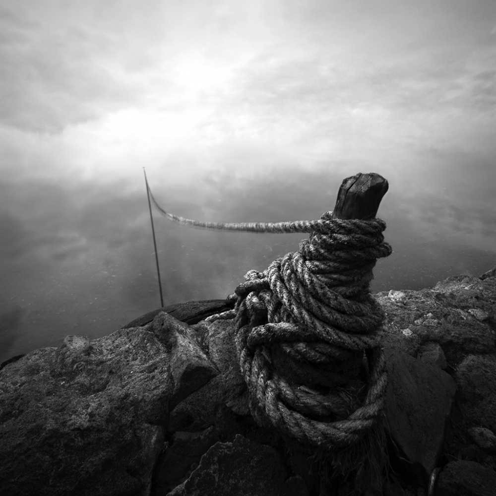 A piece of fine art art photography titled Rope to the Sky by nyoman ady sanjaya