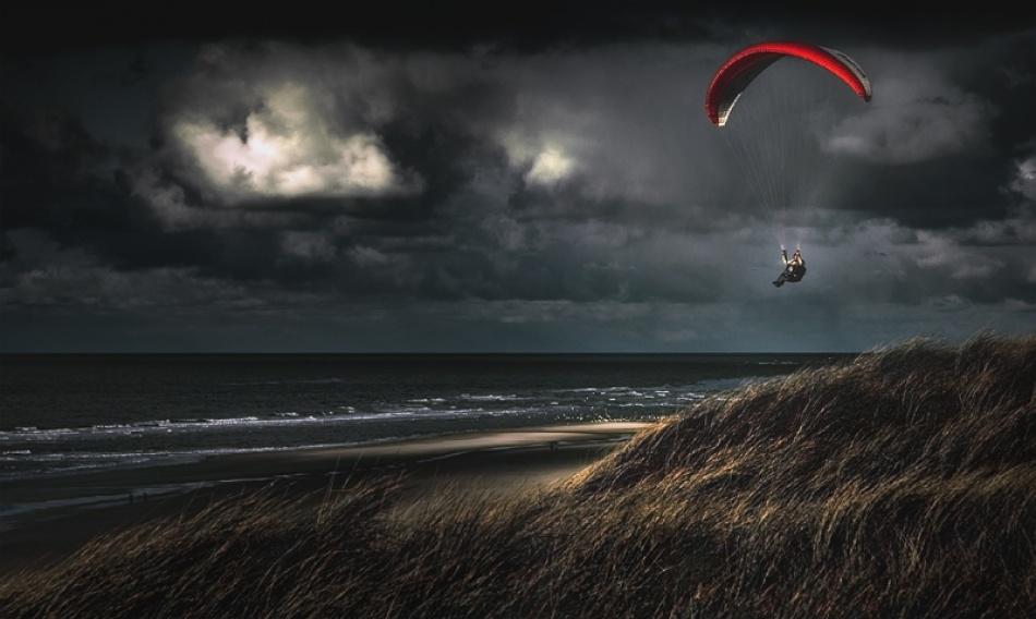 A piece of fine art art photography titled Soaring by Jeroen Oosterhof