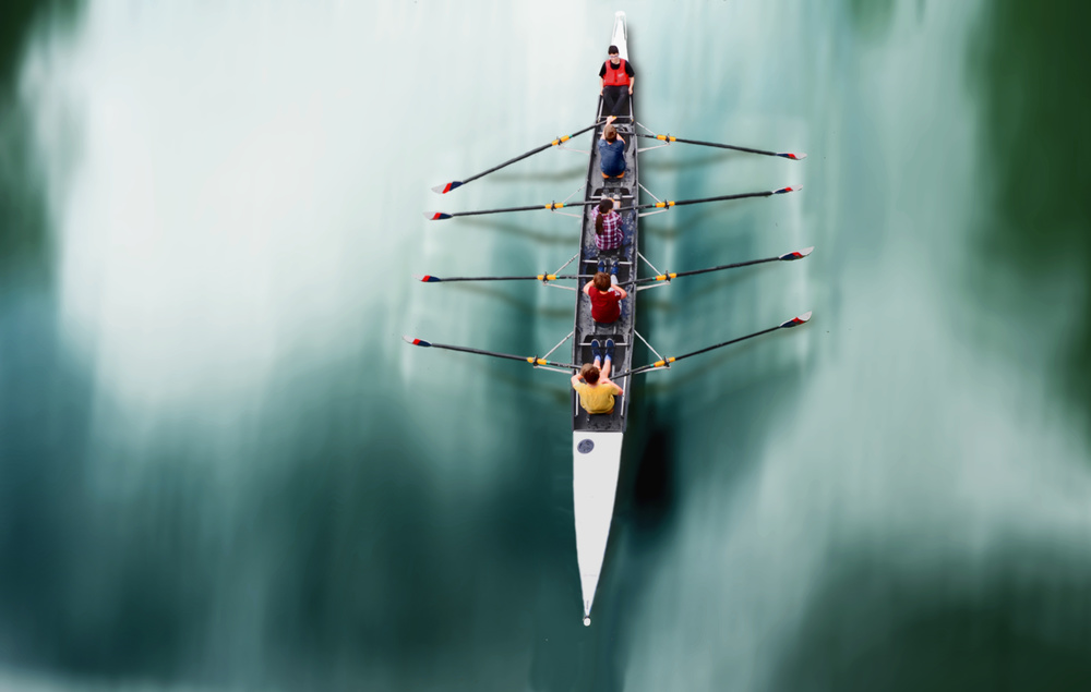 View this piece of fine art photography titled rowing masterclass by pierre bacus