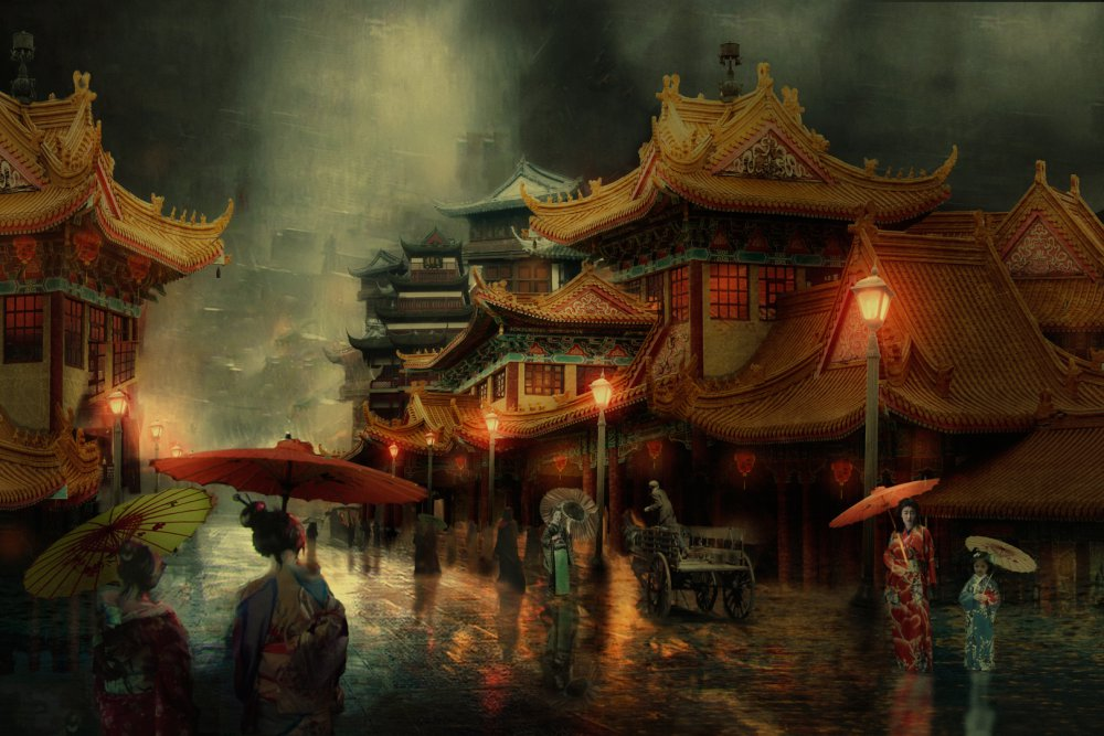 View this piece of fine art photography titled The streets of Hanoi... by Charlaine Gerber