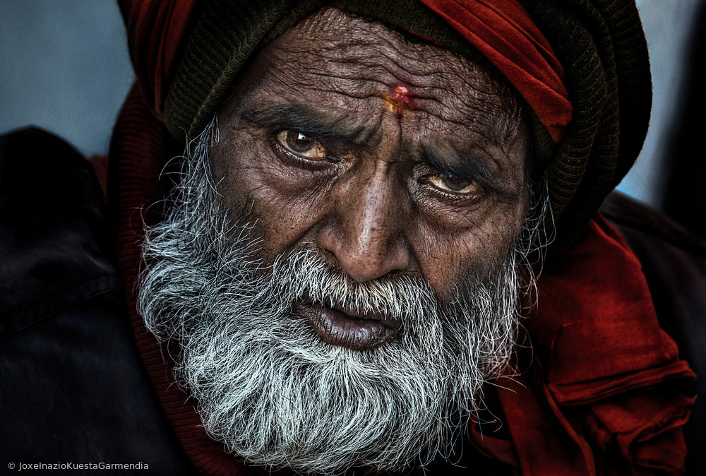 View this piece of fine art photography titled Waiting for a free eye check-up and screening - Netra Kumbh - Prayagraj-India by Joxe Inazio Kuesta Garmendia