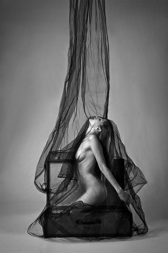 A piece of fine art art photography titled The Waterfall by Liviu Burlea