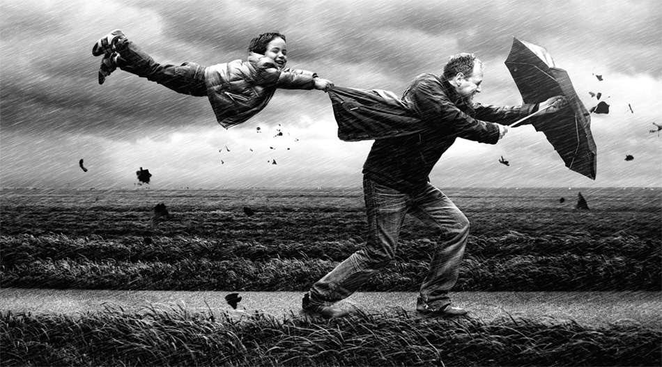 A piece of fine art art photography titled Wind by Adrian Sommeling