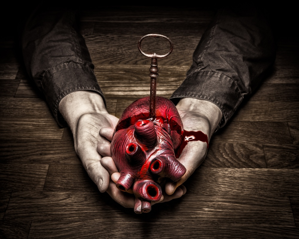 A piece of fine art art photography titled Key to My Heart by Petri Damstén