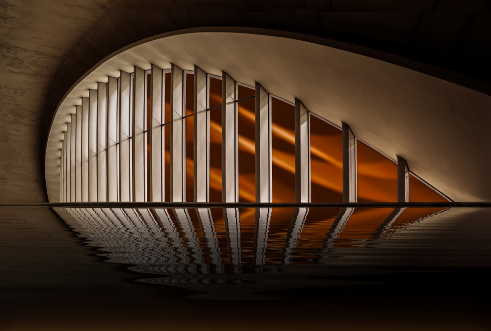 A piece of fine art art photography titled The Mouth by Ute Scherhag