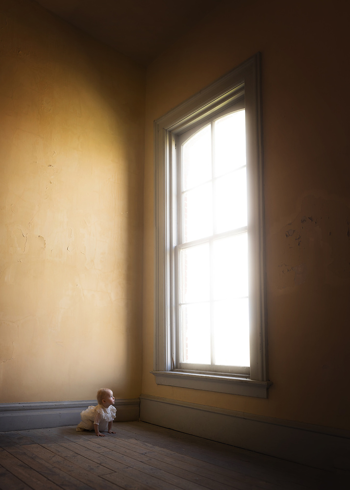 A piece of fine art art photography titled The Window by Lisa Holloway