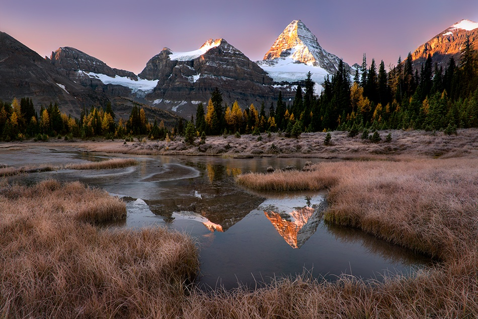 A piece of fine art art photography titled Peak Reflections by Doug Solis