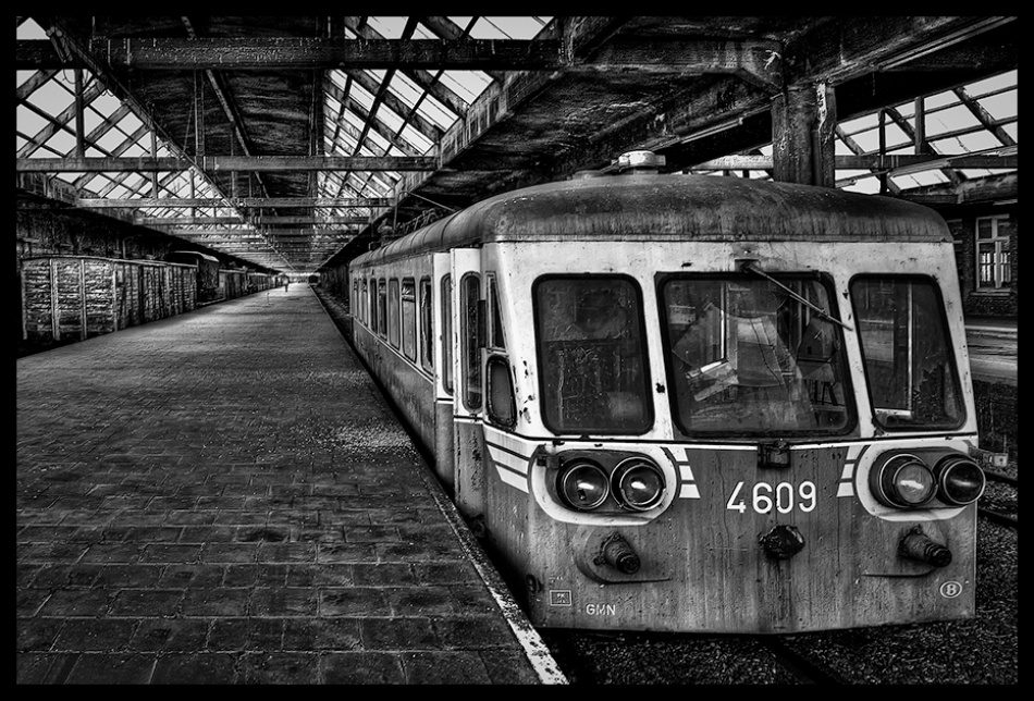 A piece of fine art art photography titled The End of the Line by Repro