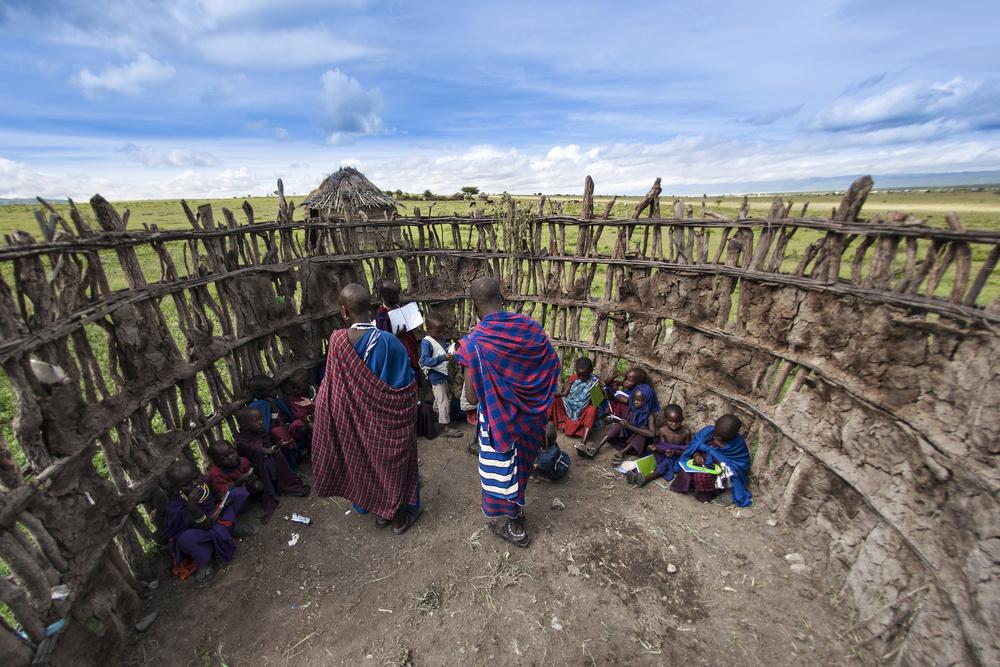 A piece of fine art art photography titled Maasai People by E.Amer