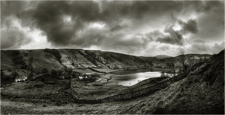 A piece of fine art art photography titled The Valley by Andrew Thatcher