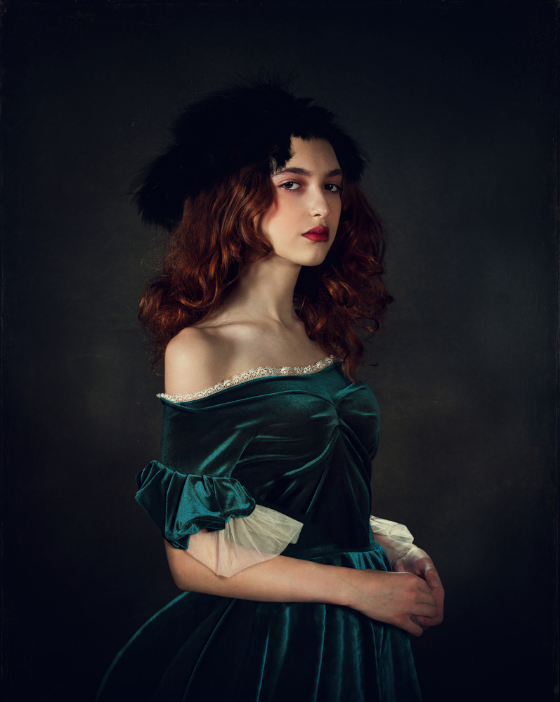 A piece of fine art art photography titled Portrait In Old Style by Svetlana Melik-Nubarova