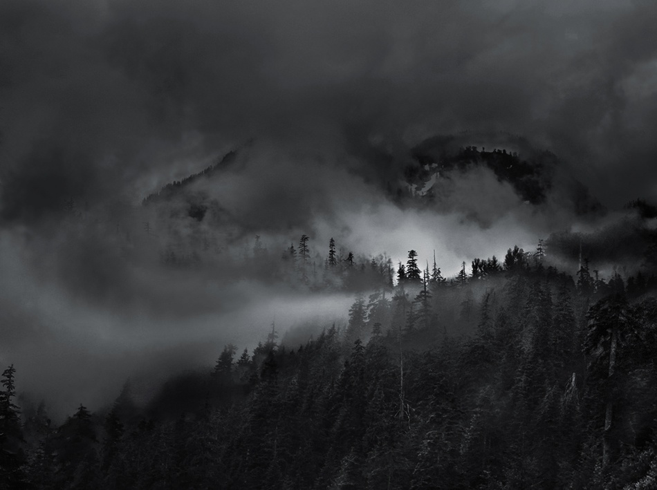 A piece of fine art art photography titled Mountain Fog by ifdefelseif