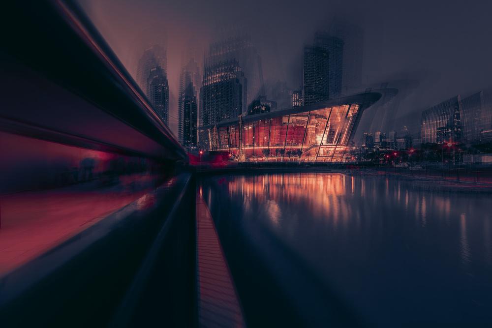 A piece of fine art art photography titled Dubai Opera by António Bernardino Coelho