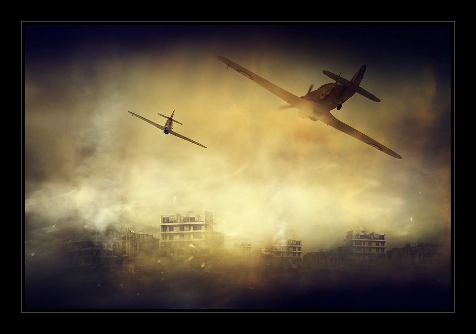 A piece of fine art art photography titled Air Invasion by george gradinaru