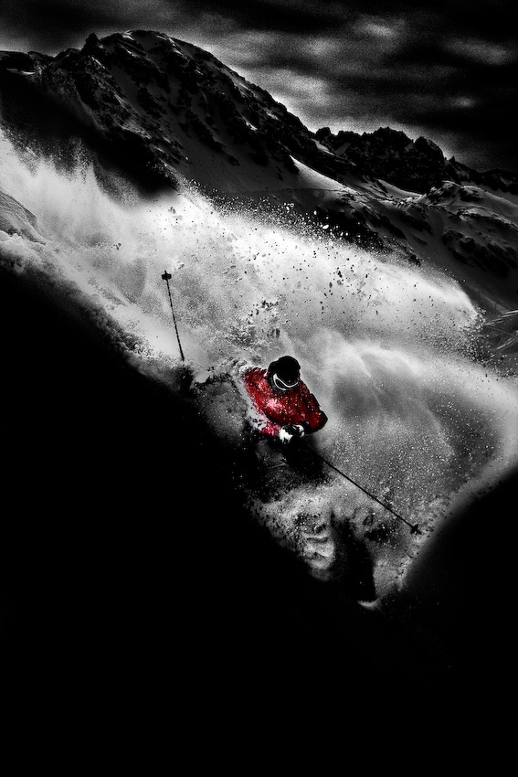 A piece of fine art art photography titled Dark Freeride by Tristan Shu