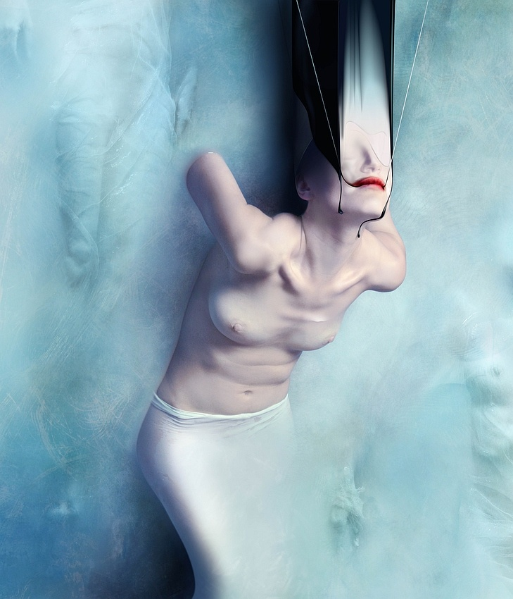 A piece of fine art art photography titled Faith Hope Love by Karina Marandjian