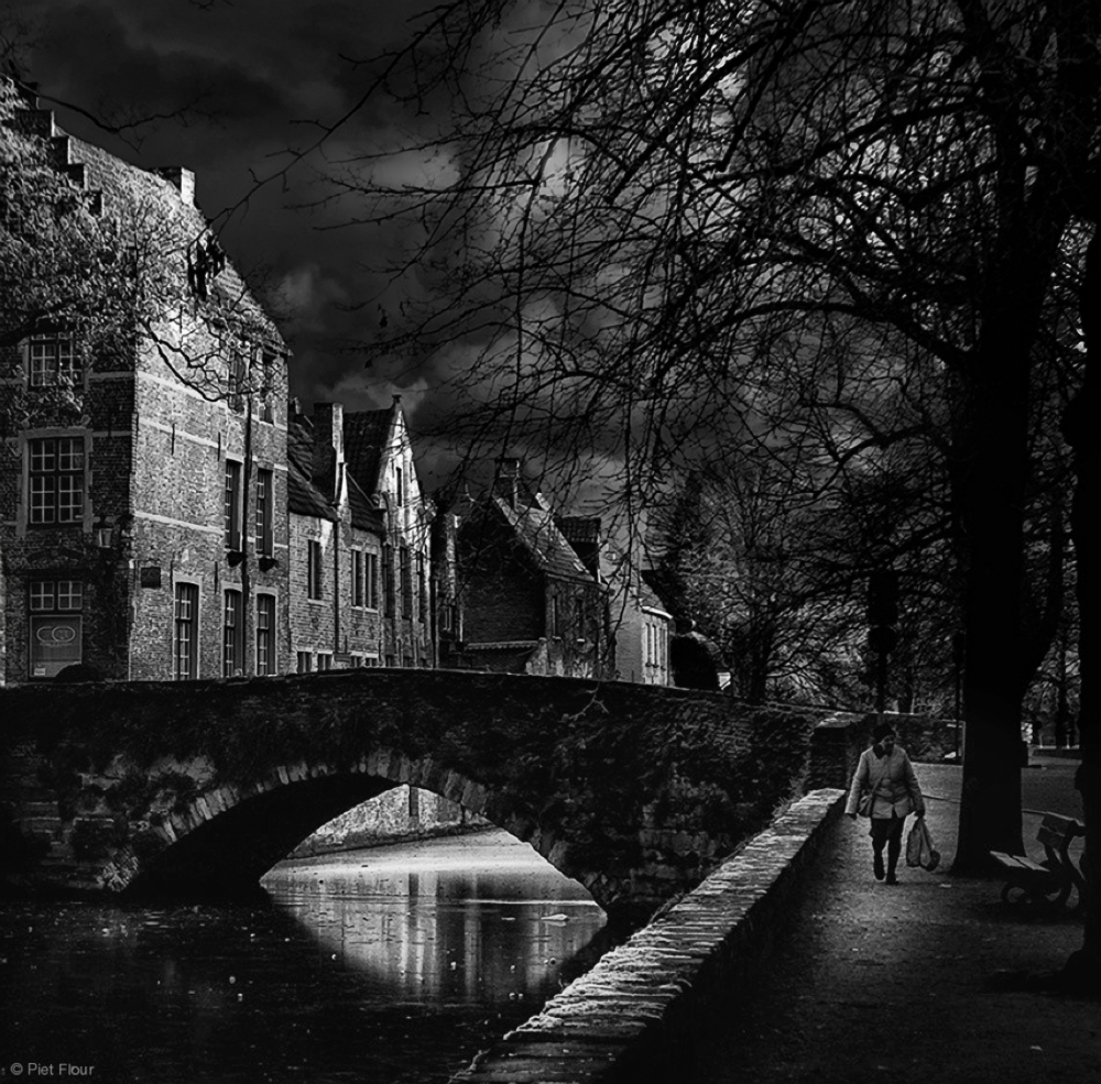 A piece of fine art art photography titled As Time Slows Down by Piet Flour