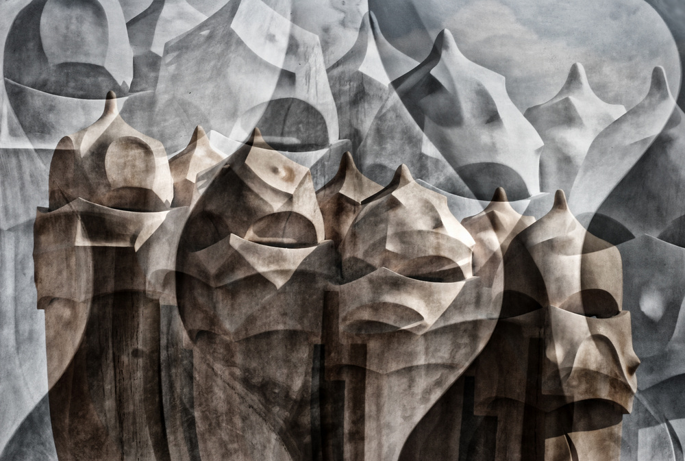 A piece of fine art art photography titled Casa Milà by Hans-Wolfgang Hawerkamp