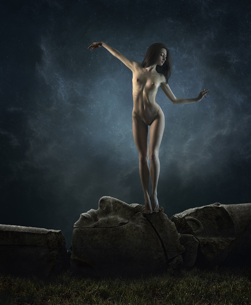 A piece of fine art art photography titled Alina by Dmitry Laudin