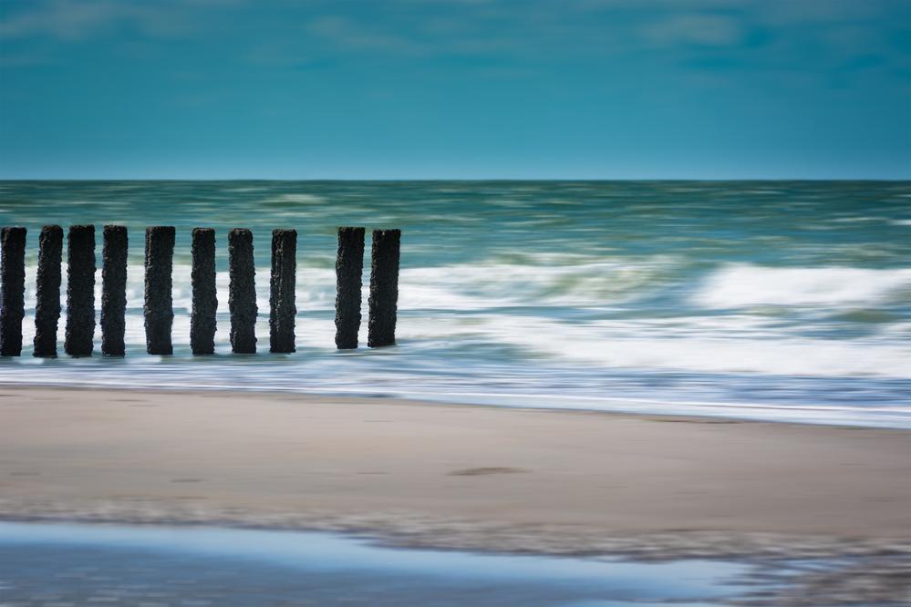A piece of fine art art photography titled White Waves by Bernardine de Laat