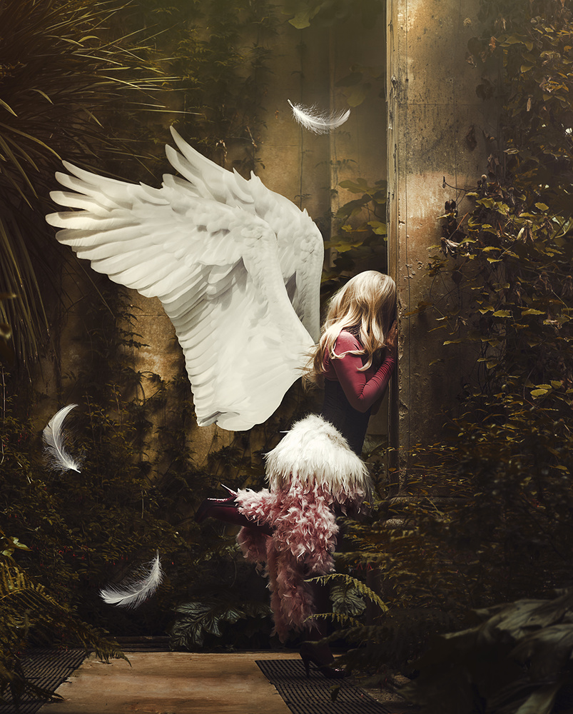 A piece of fine art art photography titled Earth Angel by Button Moon