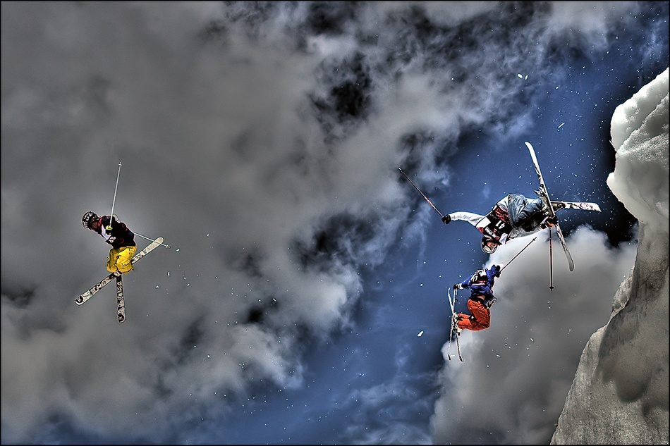 A piece of fine art art photography titled 3 Riders InZiR by guillaume le guillou | glg-photo.com