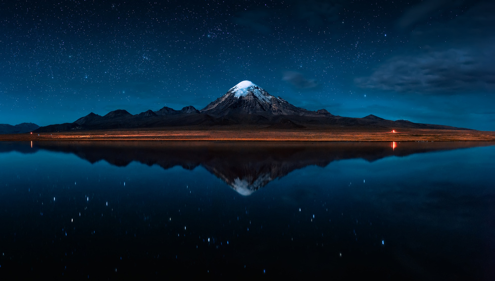 View this piece of fine art photography titled El Reflejo del Sajama - Bolivia by Hernan Calderon Velasco