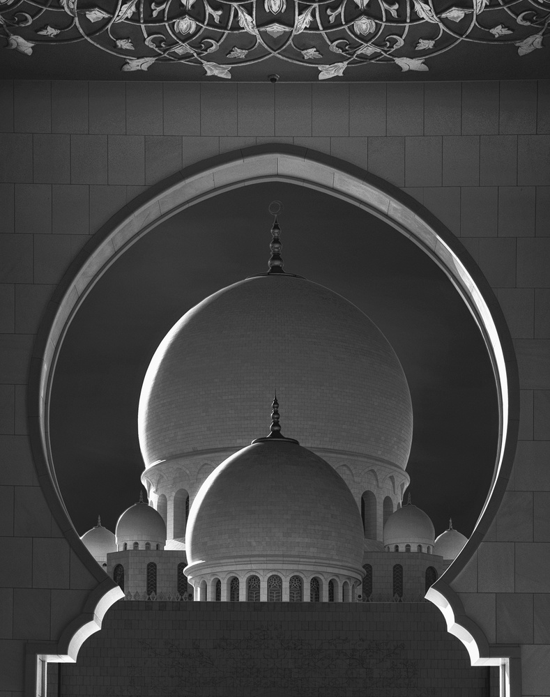 A piece of fine art art photography titled Dome Framing by Ahmed Thabet