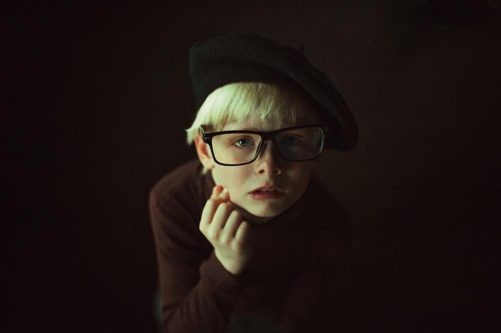 A piece of fine art art photography titled Fedor by Natalia Zhukova