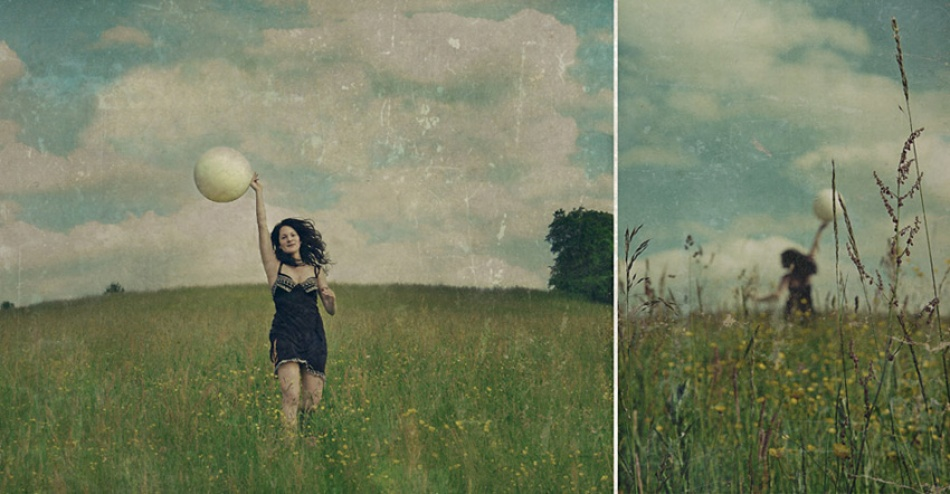 A piece of fine art art photography titled Grassland Dreams by Anja Papenfuss