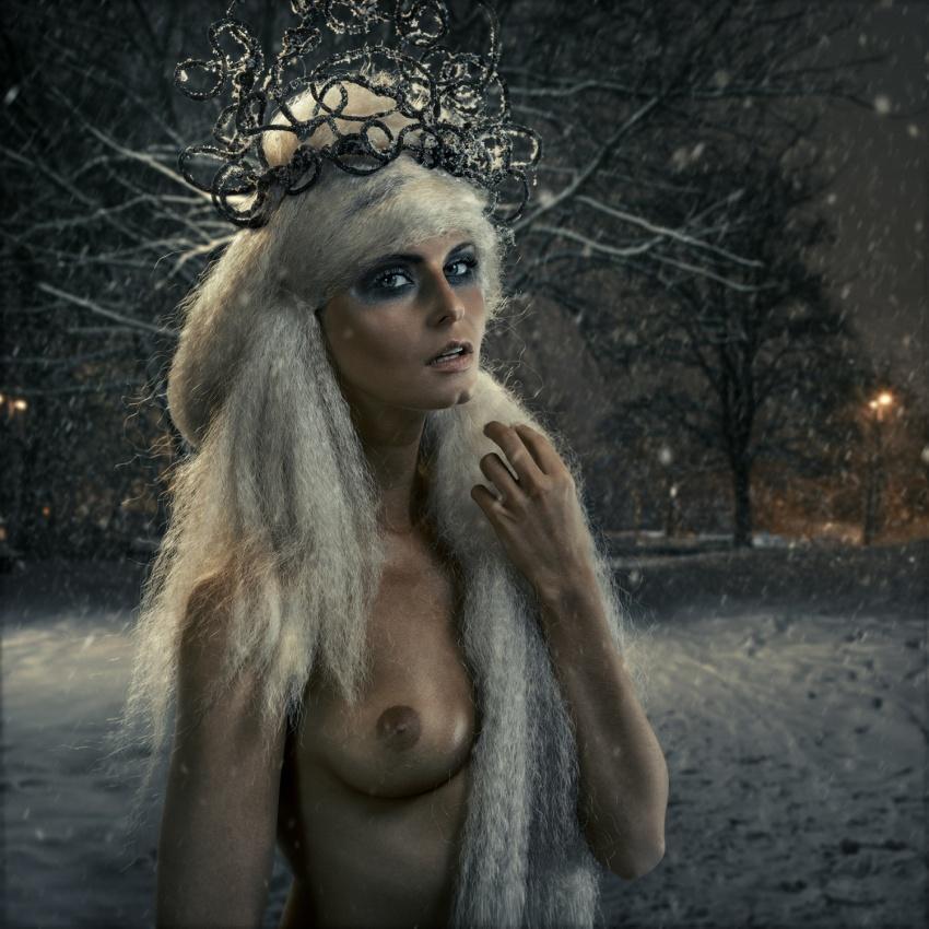 A piece of fine art art photography titled Snow Queen by felipmars
