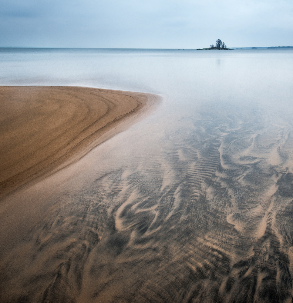 A piece of fine art art photography titled A Little Island by Claes Thorberntsson