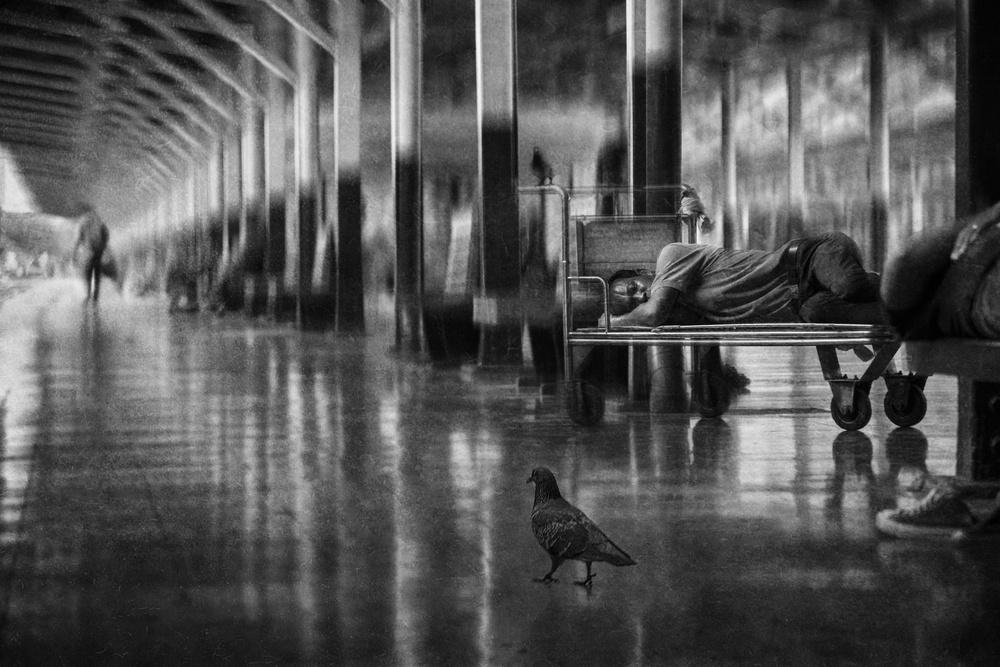 A piece of fine art art photography titled Quiet Journey by Ekkachai Khemkum
