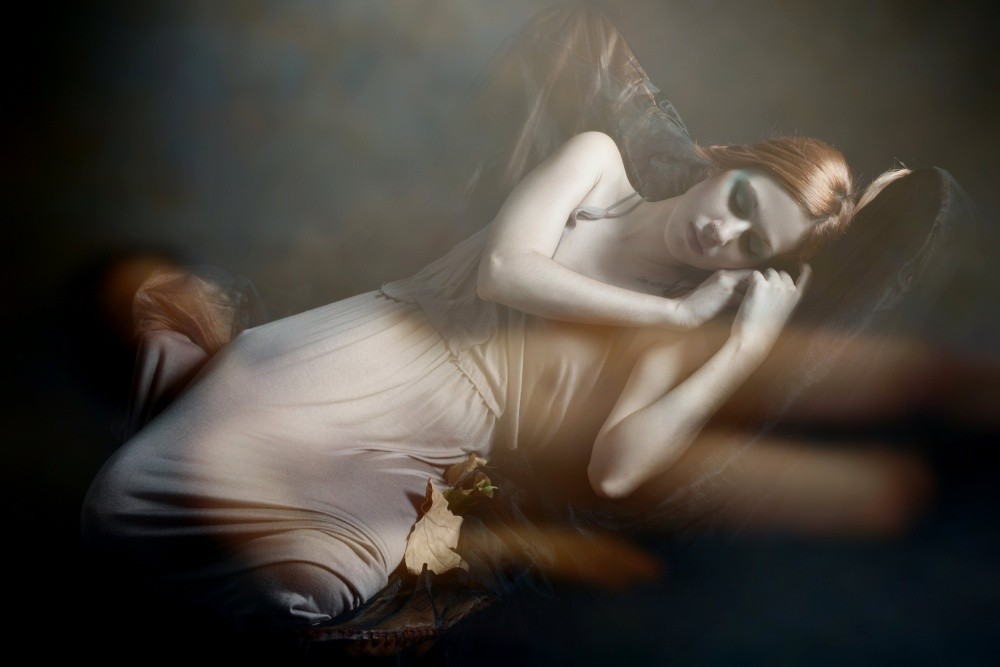 A piece of fine art art photography titled Forbidden Dreams by Olga Mest